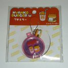 San-X Nyanko Burger Series Mini Mirror Keychain