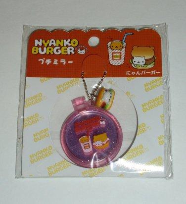 San-X Nyanko Burger Series Mini Mirror Keychain