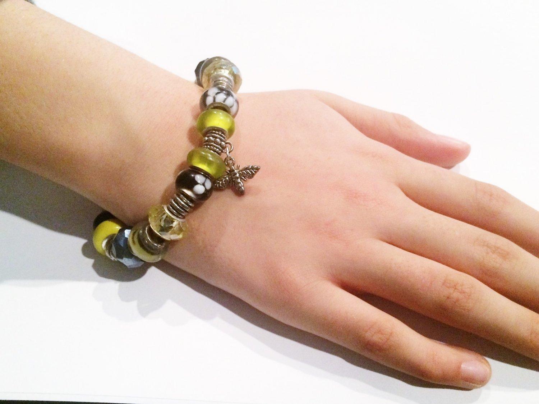 Common Eastern Bumblebee European Charm Bracelet