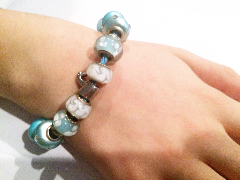Blue Swan European Charm Bracelet