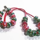 Christmas European Charm Bracelet and Necklace Set