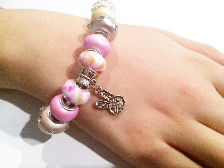 Easter Bunny European Charm Bracelet