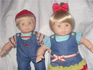 American Girl BittyTwin Boy Girl Blonde Blond Blue Eyes