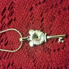 White Zircon Key to my Heart Pendent