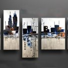 Handmade high quality abstract oil painting on canvas:cityscape