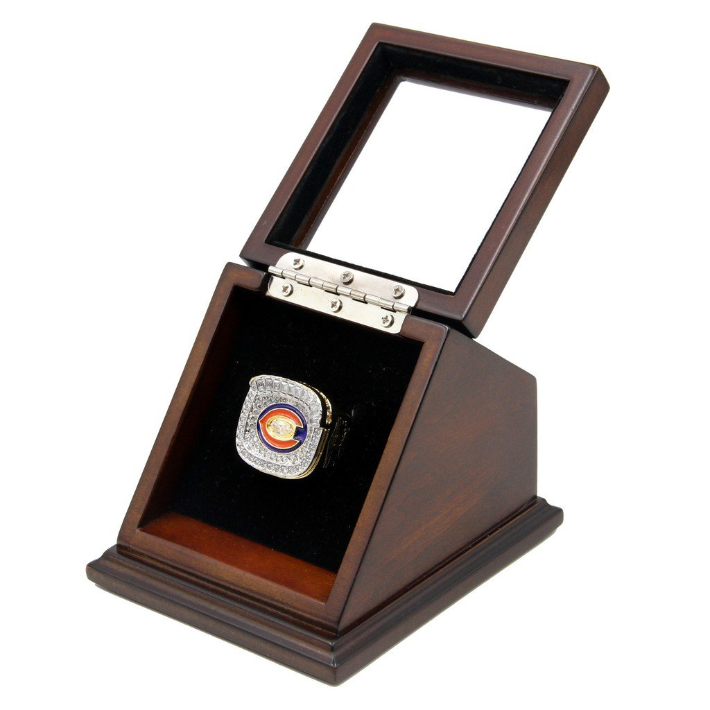 NFC 2006 Chicago Bears Super Bowl Replica Championship Rings with Wooden display Case