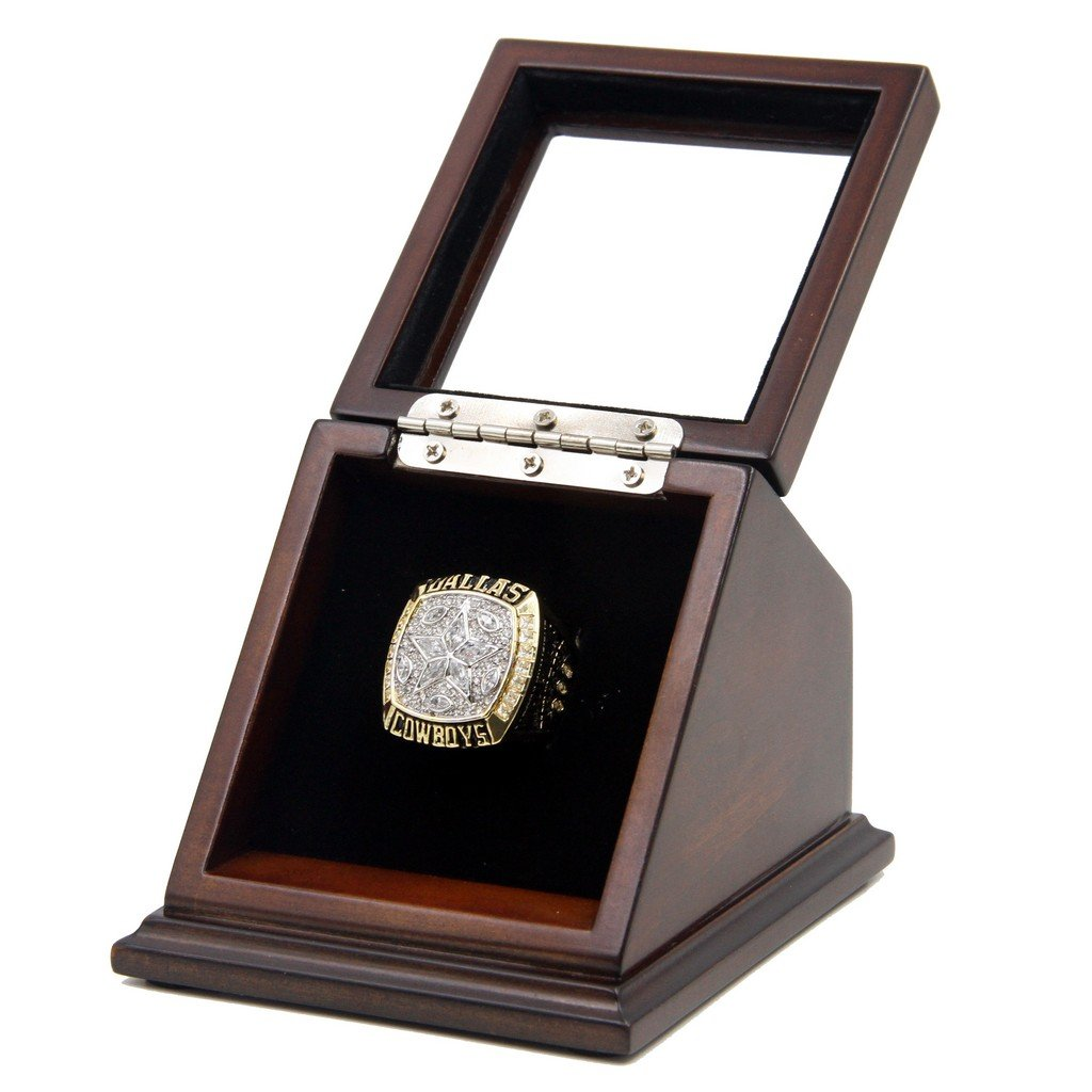 Dallas Cowboys 1995 SB XXX Replica Championship Rings with Wooden Presentation display Case Box