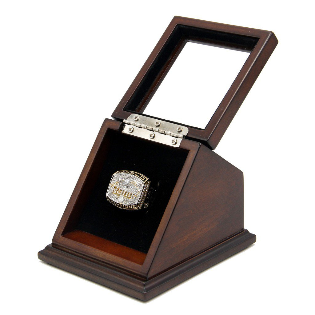 N-F-L 1999 St. Louis Rams Super Bowl XXXIV Replica Championship Rings with Wooden display Case
