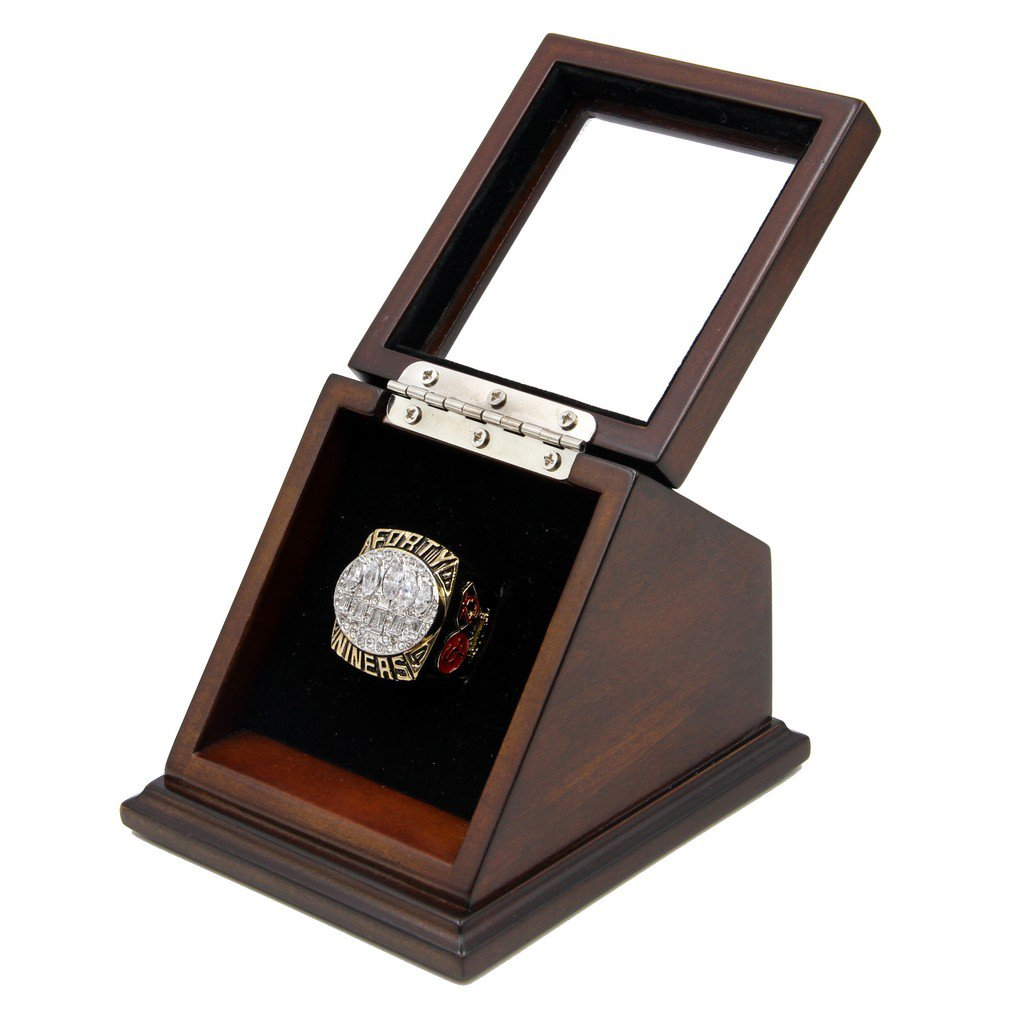 N-F-L 1994 San Francisco 49ers Super Bowl XXIX Replica Championship Rings with Wooden display Case