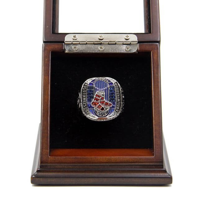 World Series 2013 Boston Red Sox Championship Fan Ring with Wooden display Case Box Size 11 Ortiz
