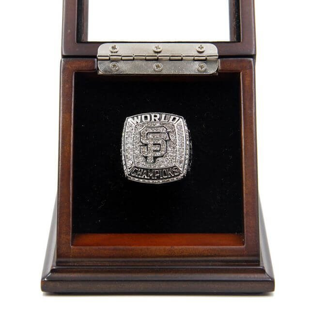 World Series 2012 San Francisco Giants Championship Ring with Wooden display Case Size 11 Sandoval
