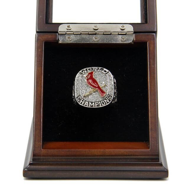 World Series 2011 St. Louis Cardinals Championship Ring with Wooden display Case Size 11 Carpenter