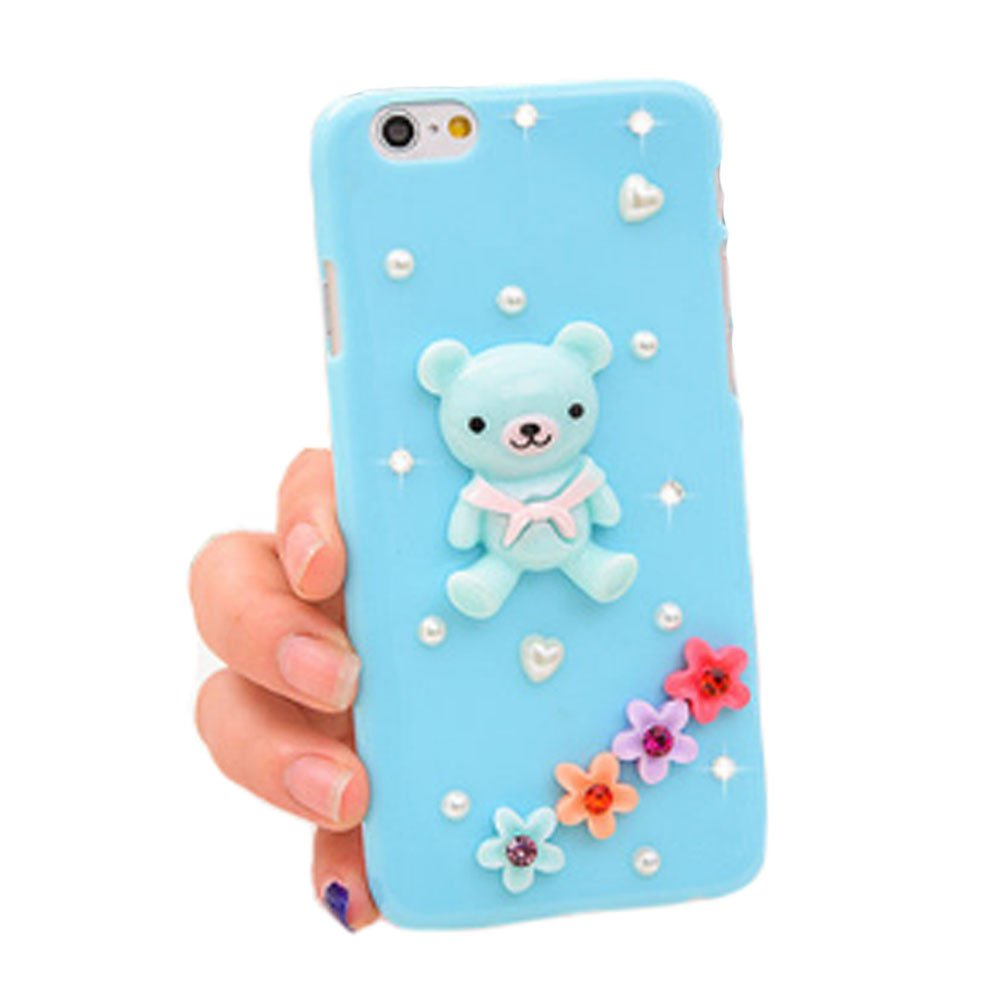 """Kylin Express Lovely Cellphone Case Protective Back Cases/Cover for iPhone 6(4.7"""") - Blue/Bear"""