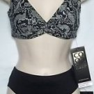 COCO REEF HALTER TWIST BRA & HIGH WAISTED BOTTOM,SIZE SMALL/32-34D,$94