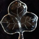 Fall Leaf Candy Dish Glass Vintage Thanksgiving Decor Home Decorations