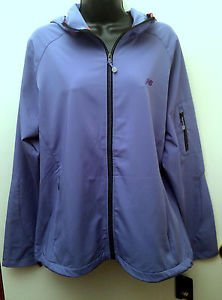 NWT New Balance Womens Size XXL Purple Hooded Zip Running Jacket Many Pockets