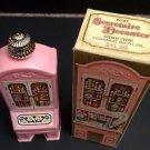 Vintage Avon Collectible Secretaire Decanter, Brocade Foaming Bath Oil 5 oz, NIB