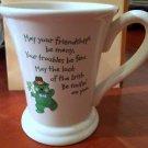 Hallmark Irish Green Bear Friendship Troubles Luck Coffee Mug Cup - EUC
