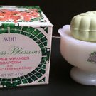 Rare NIB Vintage Avon Hostess Blossoms Flower Arranger, 4 oz Soap & Soap Dish