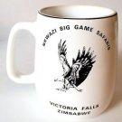 EAGLE FLYING - NKWAZI BIG GAME SAFARIS, VICTORIA FALLS, ZIMBABWE coffee mug cup
