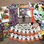 LARGE 32PC LOT OF VINTAGE HALLOWEEN DECORATIONS, WINDOW, CEILING, CLINGS!