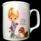 Vintage Enesco PRECIOUS MOMENTS Praise The Lord Anyhow 1978 Coffee Mug