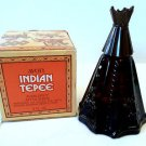 Vintage Avon Indian Tepee Collectible Bottle w/ Avon Spicy After Shave 4 oz, NIB