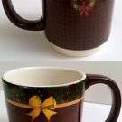 WARREN KIMBLE LANG Holiday Christmas Mugs Set,Plaid Wreath Stars Bow,RARE & HTF!