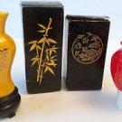 Vtg Avon Oriental Peony,Golden Bamboo Vase w/Moonwind, Sweet Honesty Cologne NIB