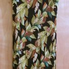 DRESSING CLIO Sz PM Crinkle Maxi Dress Sleeveless Black Floral Print - PRETTY!