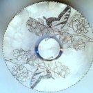 RARE Vintage ARTHUR ARMOUR Hammered Aluminum Round Butterflies Plate Platter