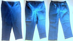Lot of 3 Just My Size Stretch Waist Jeans Size 16W Petite- 2 Classic, 1 Boot Cut