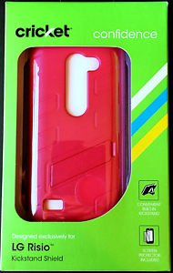 Exclusive ~ LG Risio ~ Pink Kickstand Case & Protective Shield NIB & FREE SHIP!