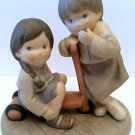 Kim Anderson #864617 Enesco Figurine YOU MAKE ME LAUGH 2 girls playing w/scooter
