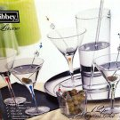 NIB Libbey Luxe 12 pc Martini Set,Glasses Olive Spoon Dish Stir Rod Pitcher Tray