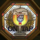 Vintage 1980s Old Style ON TAP Sign ~ Stained Glass Look Light Up, New! Heilman