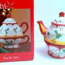 Christmas Holiday Teapot - Tea for One - Make the Season Bright - Multiuse NIB