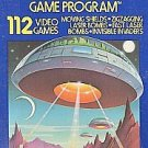 Atari 2600 Space Invaders Cartridge & Manual, 112 games in one! Cleaned, Tested!