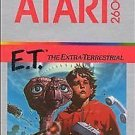 Atari 2600 E.T. The Extra-Terrestrial Silver Cartridge Manual -Cleaned & Tested!