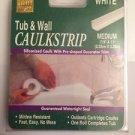 "Myro Tub & Wall Bathtub Sealer Trim Caulk Strip - White Medium 7/8"" x 11' NEW"
