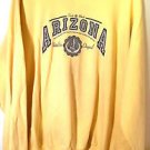 Hanes Comfort 'ARIZONA' yellow long sleeve sweatshirt sz 2XL 50-52 cotton blend