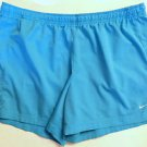 Women's NIKE Size XL Bright Blue Running Jogging Shorts w/ Logo & Front Tie EUC