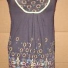 Womens Juniors DECREE Sz Large Gray Dress Floral Paisley Print Baby Doll