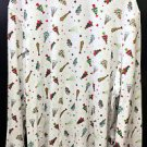 Womans Capistrano Plus Sz 3X Mock Turtleneck LS Christmas Tree Print Design