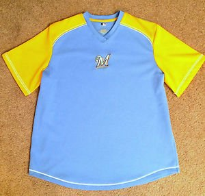 MILWAUKEE BREWERS JERSEY Sz XL SHIRT MLB Genuine Licensed, Unisex Top! EXCELLENT
