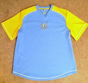 MILWAUKEE BREWERS JERSEY Sz XL SHIRT MLB Genuine Licensed, Unisex Top! EXCELLENT