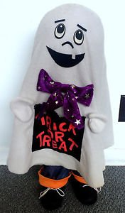 "Halloween Stand Up Trick Or Treat Ghost Doll 28"" Holiday Decor Entryway Door"
