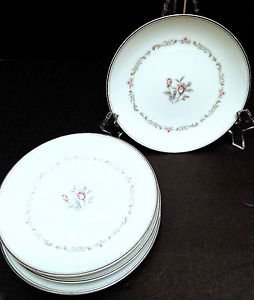 "Noritake Mayfair 6109 White China 8.5"" Salad Plates - 4 Avail, Mix & Match!"