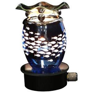 Blue Swimming Fish Plug In Burner Wax Tart Oil Warmer Wall Outlet Night Light