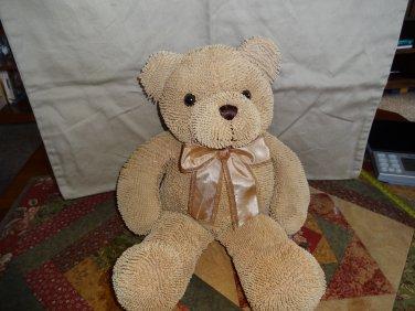 """Stephan Baby Nubby 17"""" Teddy Bear Tan nubs chenille sensory plush lovey"""